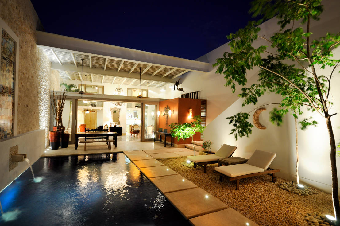 Iluminaci n de exteriores 6 ideas para casas modernas Iluminacion decorativa para exteriores