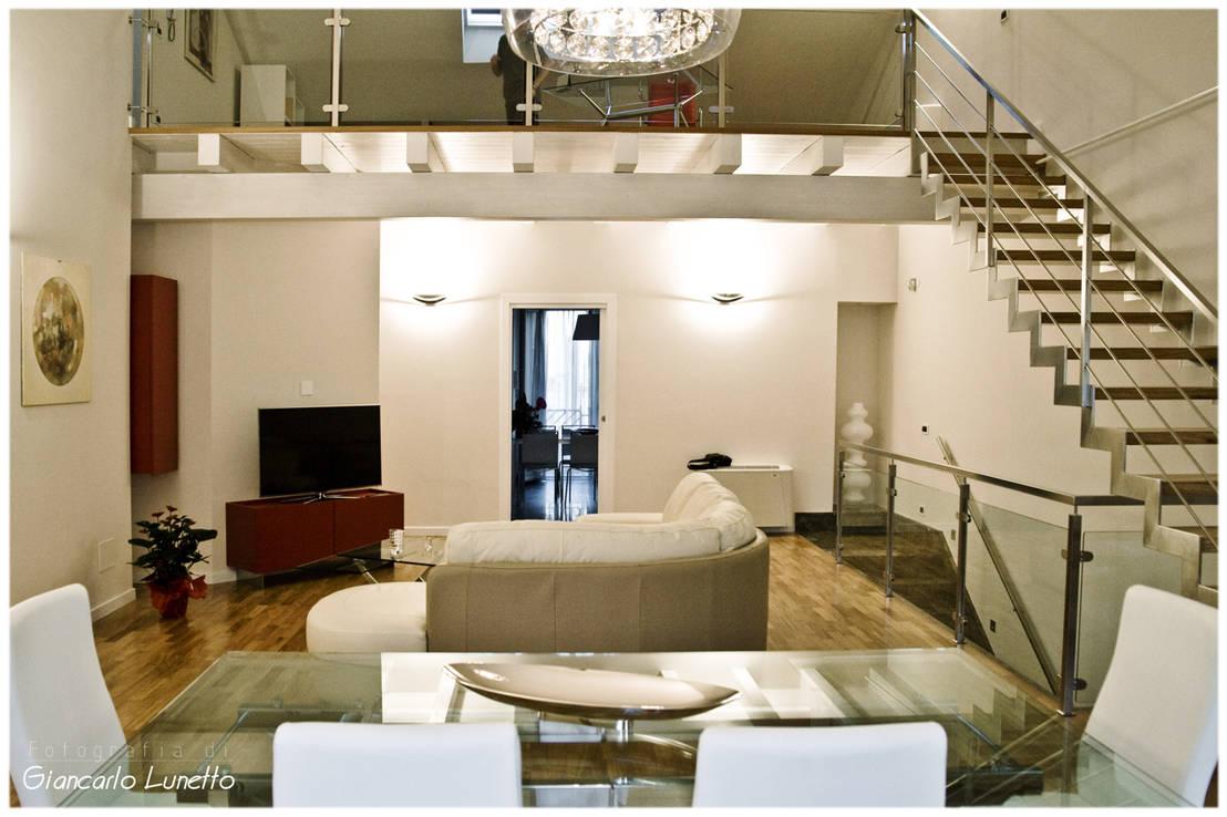 Disegno letto mansarda da camera - Scala soggiorno ...