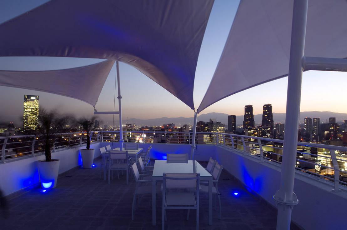 7 espectaculares terrazas en lo m s alto de un edificio for Foto contemporanea de jardin