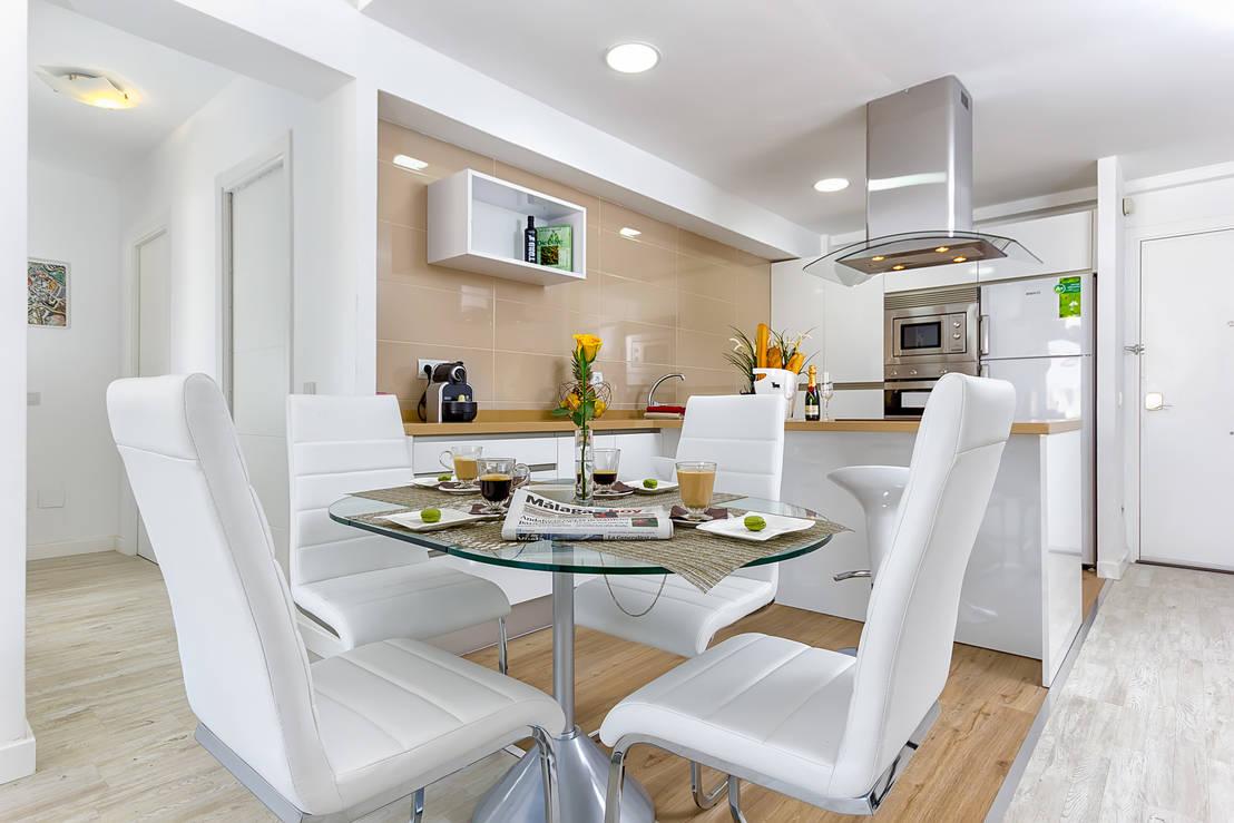 6 fabulosos comedores para casas peque as for Comedores modernos para casas pequenas