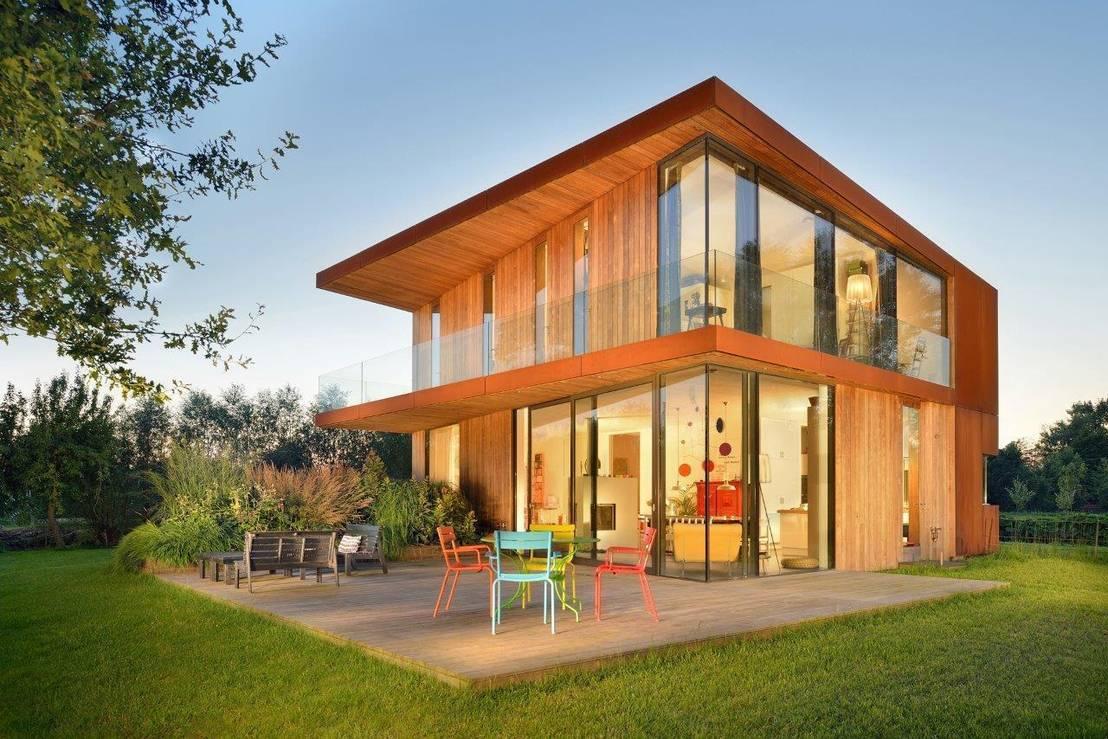 Homify 360 een houten huis in delft - Houten huis ...
