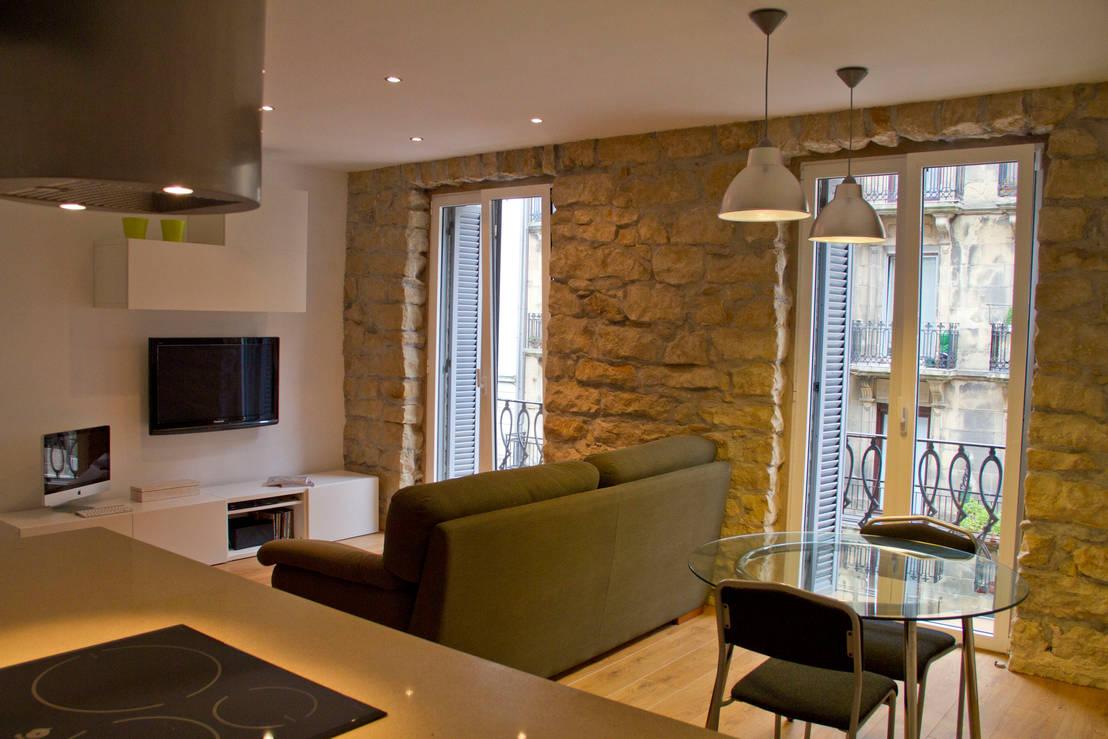 Revestimientos en piedra para el interior de casa - Piedra paredes interior ...