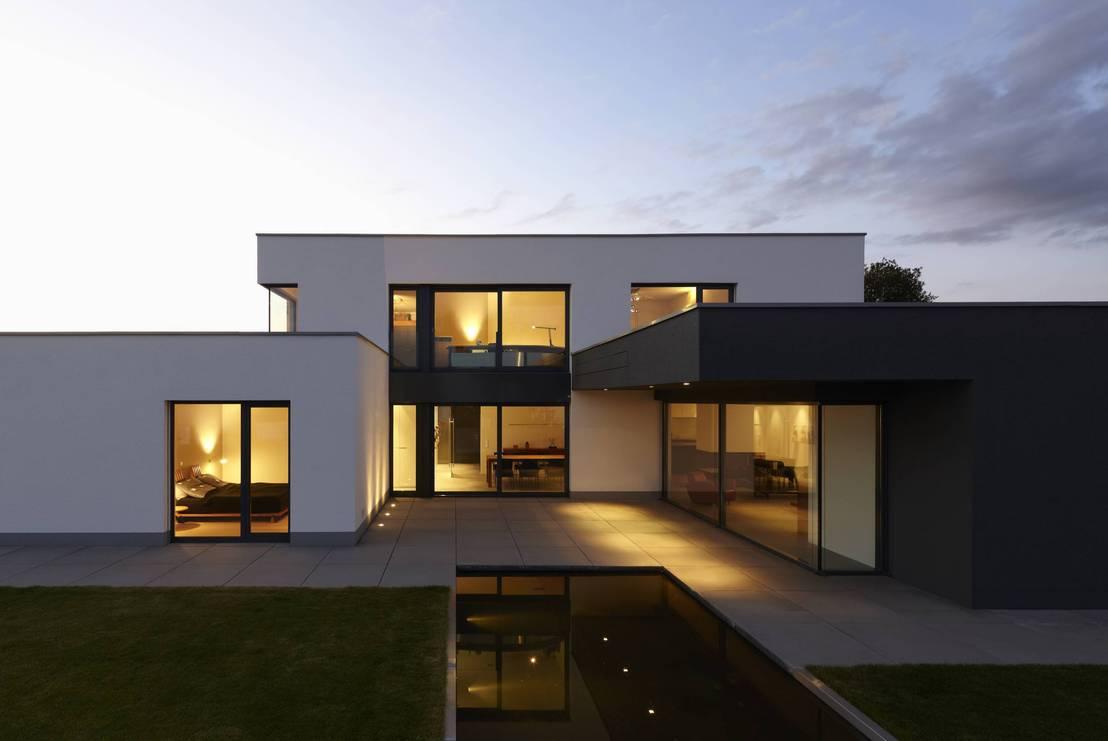 Haus w von fachwerk4 architekten bda homify for Moderne haus architektur