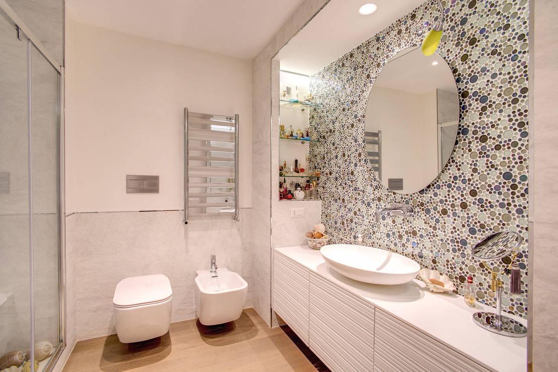 Banyolar için farklı banyo duvar kağıtları