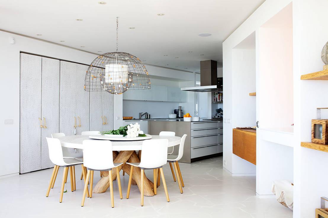 5 comedores modernos con mucho dise o for Cocina y salon integrados