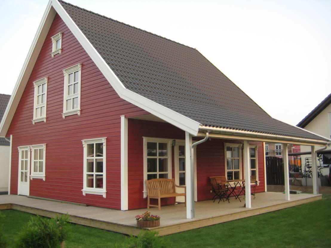 norwegisches holzhaus typ bernd von akost gmbh ihr. Black Bedroom Furniture Sets. Home Design Ideas