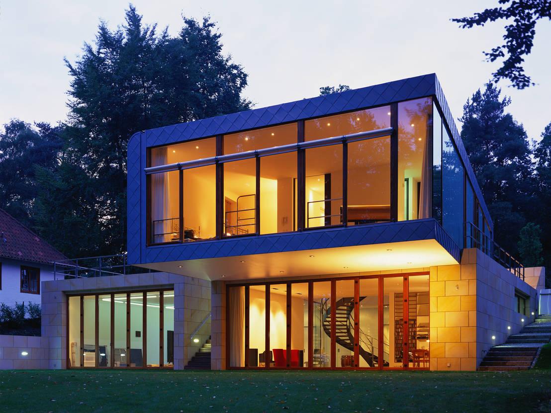 Homify 360 modernes wohnhaus mit atelier in hamburg for Modernes wohnhaus