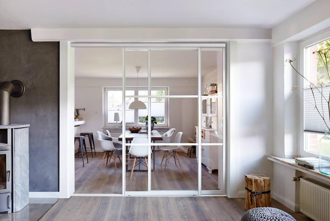 C mo separar la sala de la cocina comedor 9 ideas for Cocina separada por un techo de vidrio