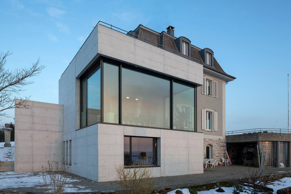 Klassizistische villa mit modernem anbau for Modernes haus schweiz