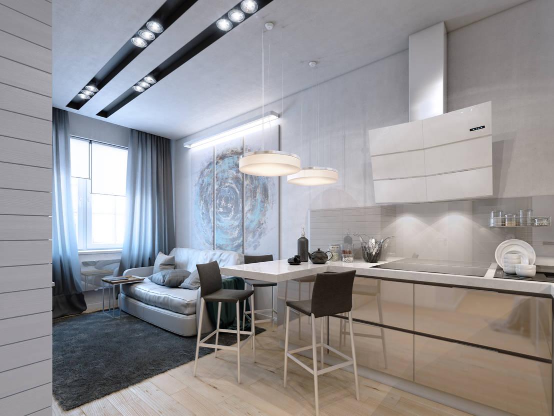 Дизайн однокомнатной квартиры: 100 идей дизайна интерьера ...