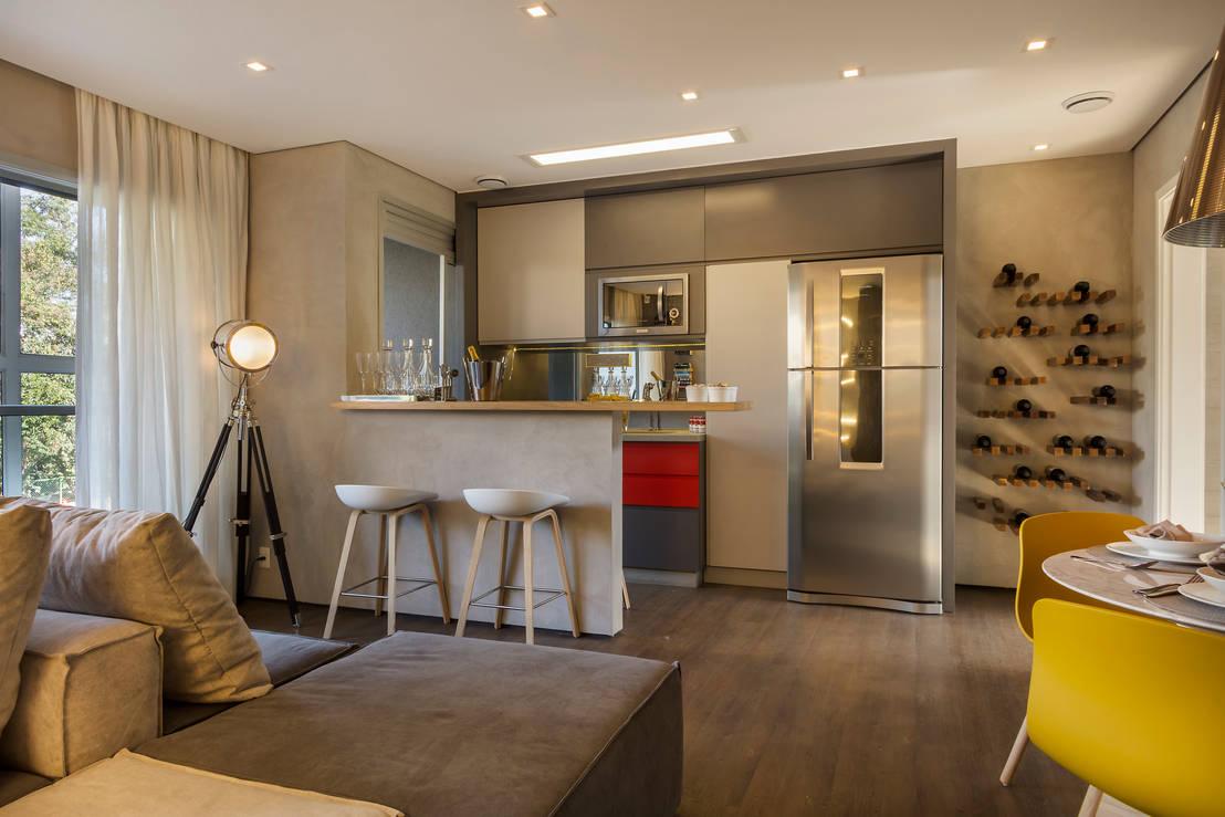 Roubamos deste ap 8 ideias lindas para decorar espa os - Como decorar un salon en forma de l ...