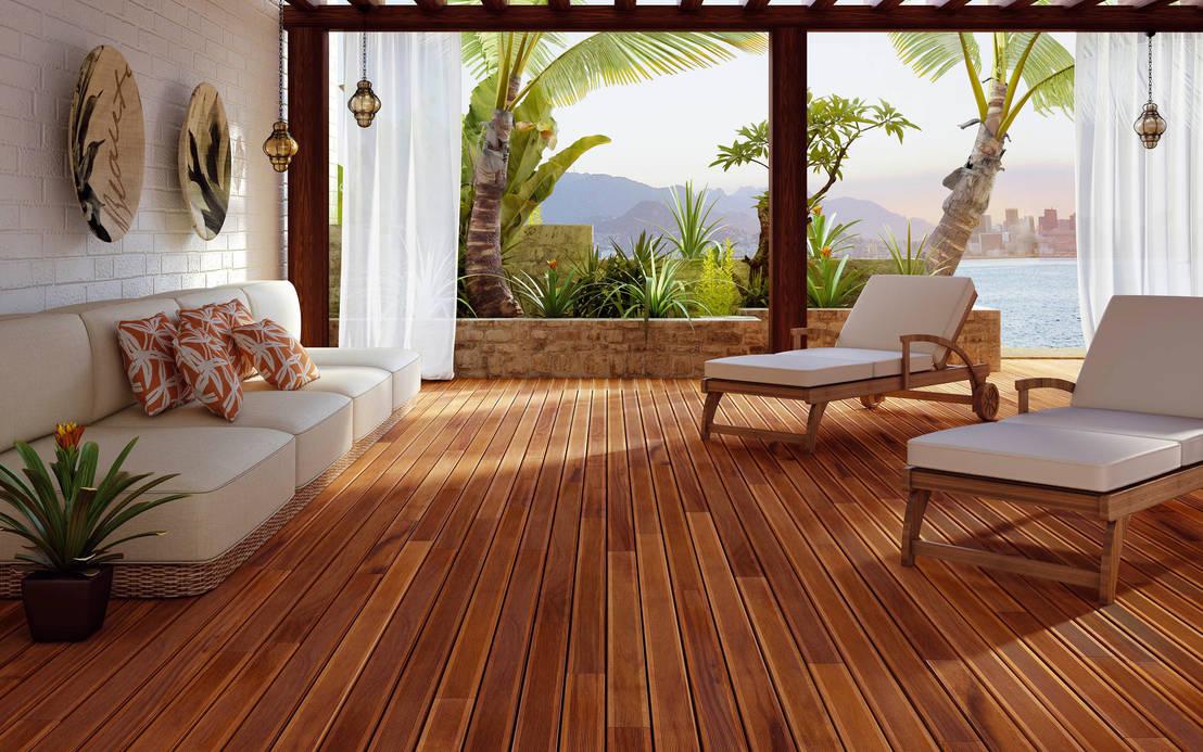 6 sencillos pasos para pintar suelo de madera for Decoracion antejardin
