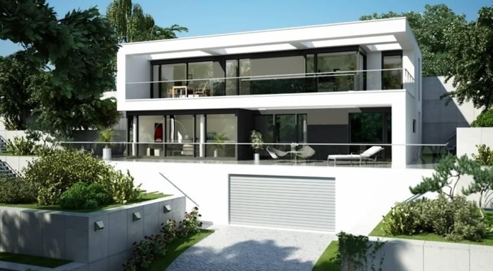 Bauhaus Wuppertal Tapeten : Hausentwurf Villa im Bauhausstil von OKAL Haus GmbH homify