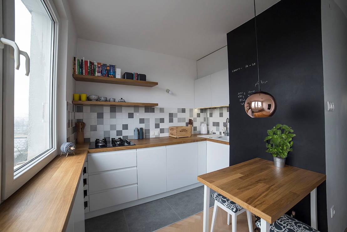Mała kuchnia w bloku  jak ją urządzić? -> Mala Kuchnia W U