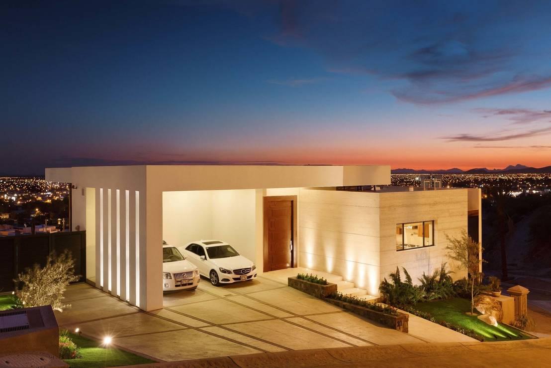 10 fachadas de casas con garaje que te van a encantar for Casas con tejados modernos