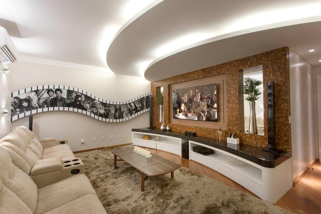 10 decora es em gesso que modernizam ambientes. Black Bedroom Furniture Sets. Home Design Ideas