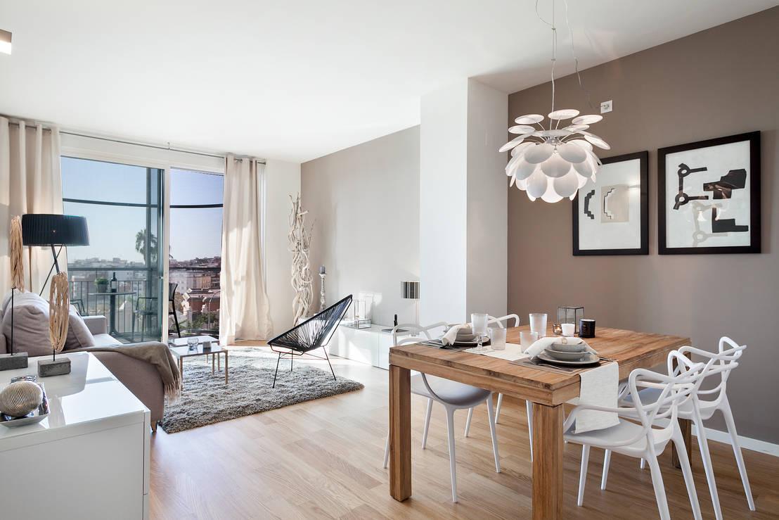 La decoraci n viste de seda este piso en barcelona for Corredor deco blanco y gris