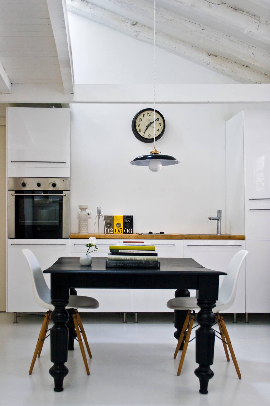 6 cocinas elegantes en blanco y negro for Cocinas elegantes