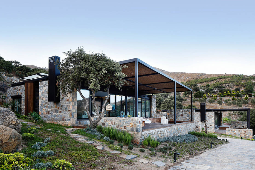 10 fachadas de piedra sensacionales for Ville moderne con vetrate
