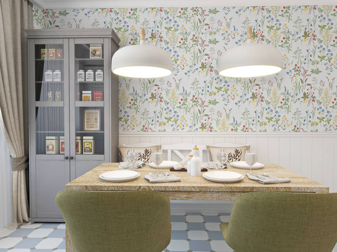 The petite apartment with beautiful personality for Papel vinilico para cocinas
