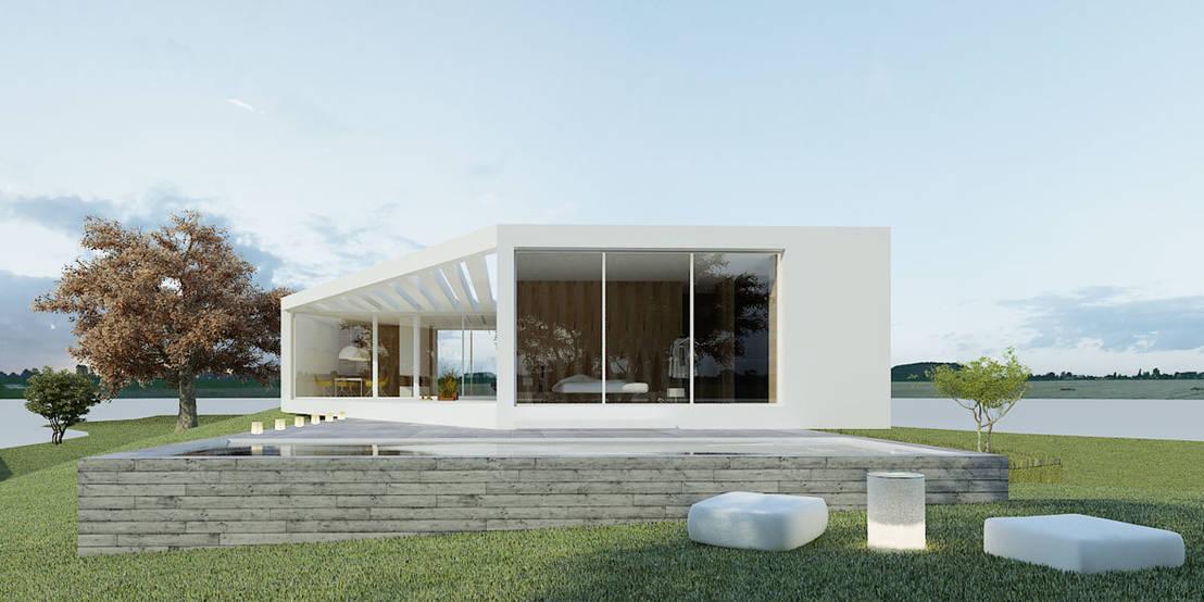 Dez pequenas casas em estilo minimalista for Ver fachadas de casas minimalistas