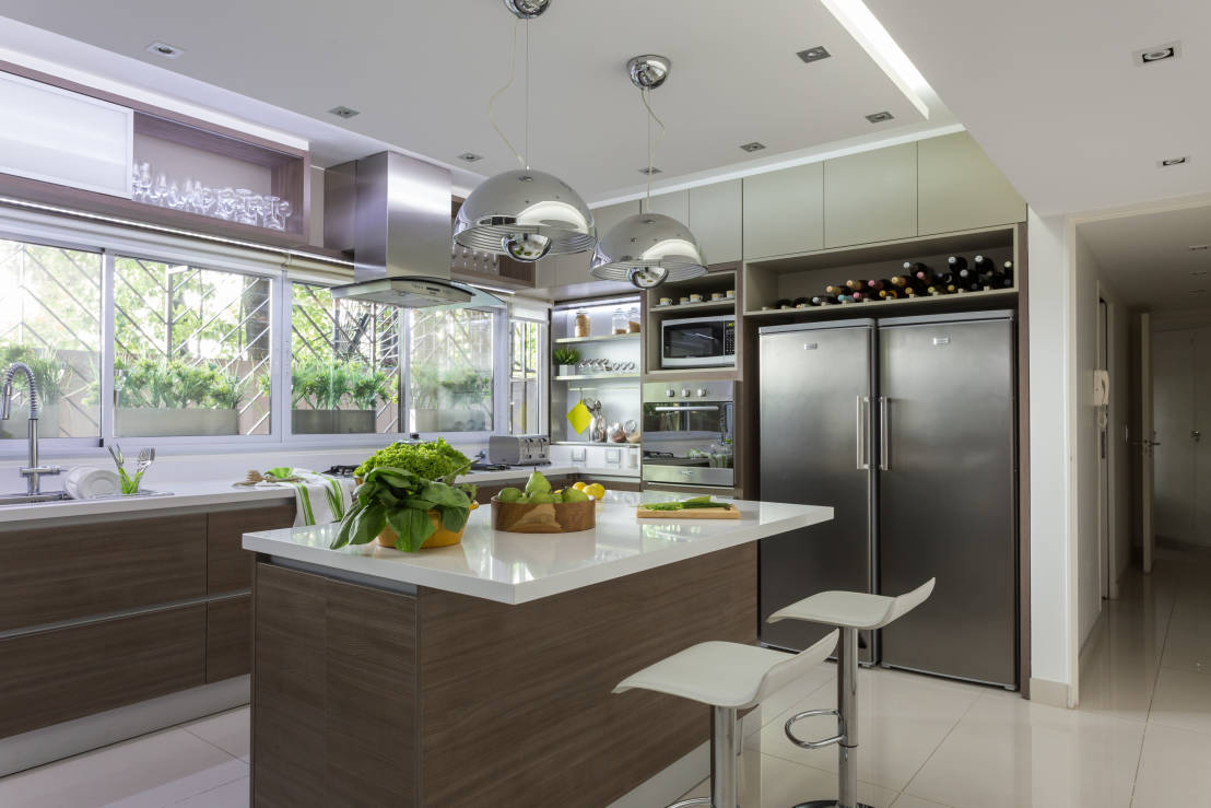 Desayunadores 6 opciones hermosas para tu cocina for Cocinas modernas con isla central y desayunador