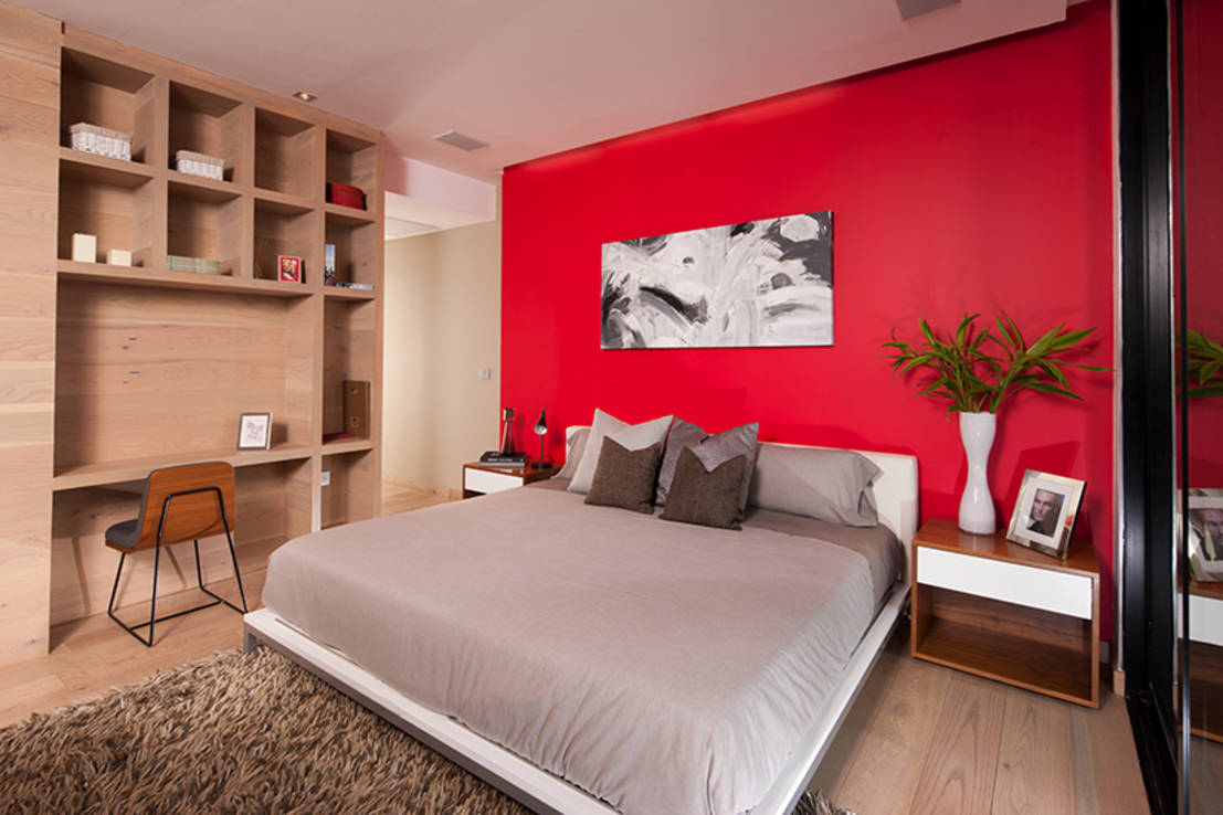 Color rojo vibrante 6 ideas para decorar casas modernas for Colores para interiores de casa modernos