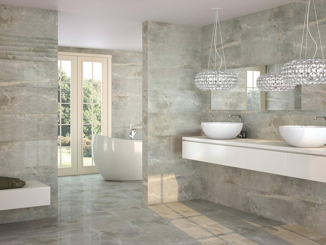 I materiali giusti per un bagno effetto wow - Piastrelle bagno legno ...