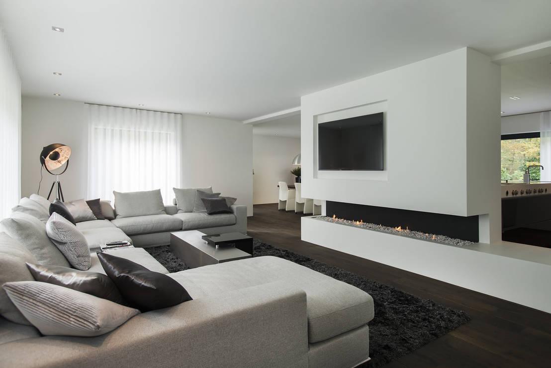 Leven in een luxe woonkamer