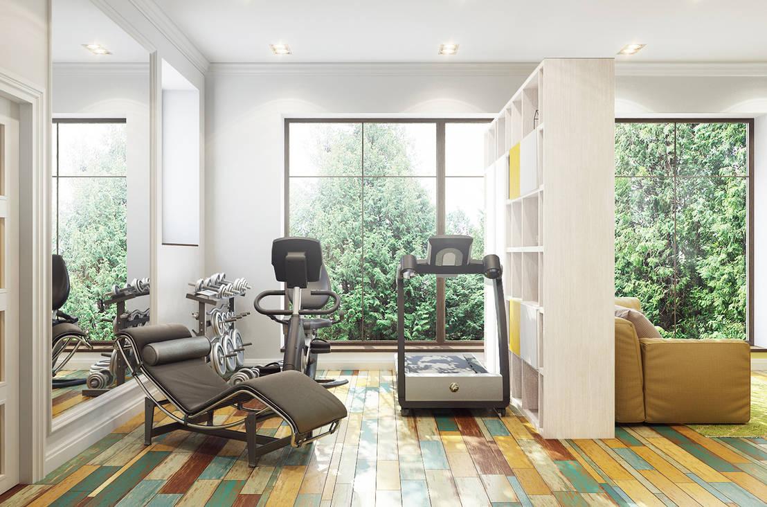 8 consejos para dise ar un gimnasio en casa - Casa con gimnasio ...