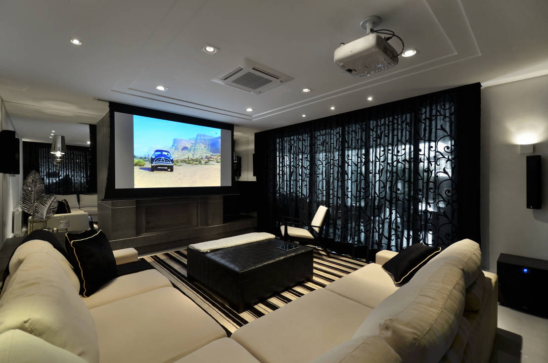 10 salas de tv para amar for Salas de television modernas