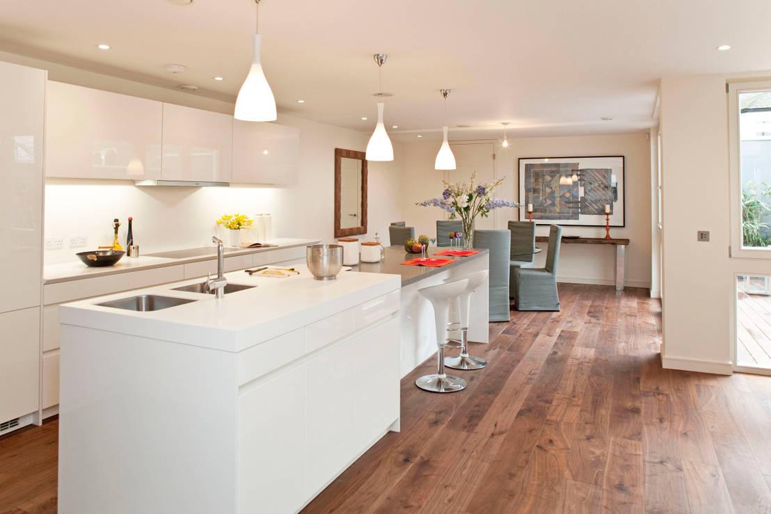 14 cocinas blancas para casas modernas - Casas blancas modernas ...