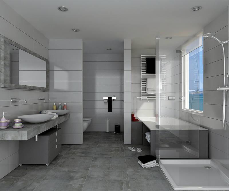 Ba os modernos 10 mamparas para ba eras sensacionales Colores minimalistas para interiores
