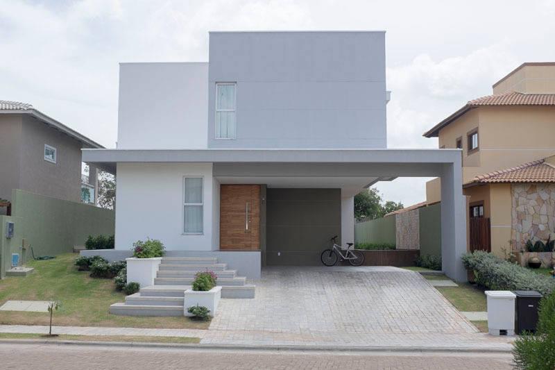 13 fachadas de sobrados com boas ideias para inspirar o seu for Casa minimalista guatemala