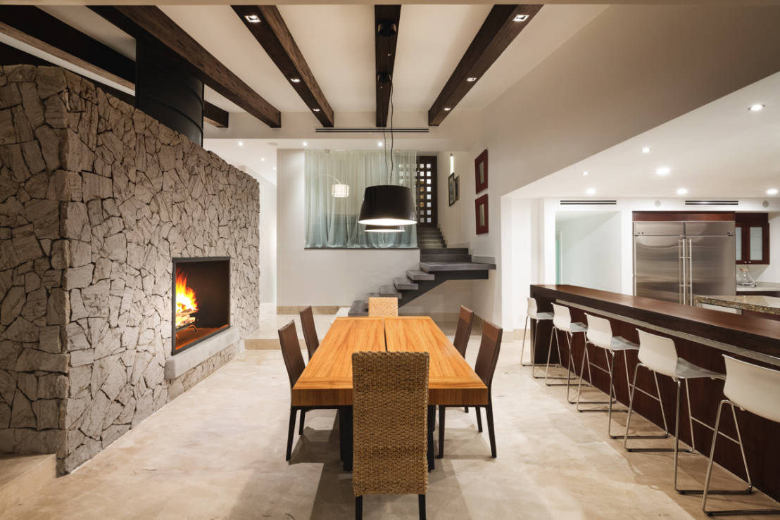 10 salas de jantar modernas for Departamentos rusticos modernos