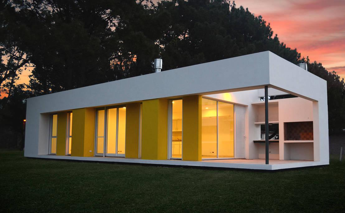 Casas modernas y entre medianeras for Fachadas de casas modernas entre medianeras