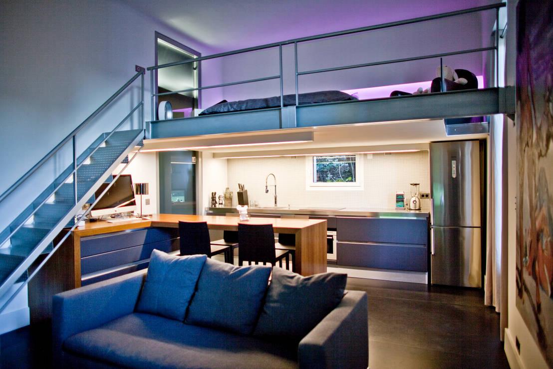 studio 30 m2 nice par nd architecture d 39 interieur homify. Black Bedroom Furniture Sets. Home Design Ideas
