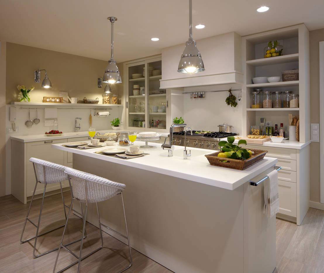 Cocina de dise o atemporal de deulonder arquitectura for Idea de cocina de color topo