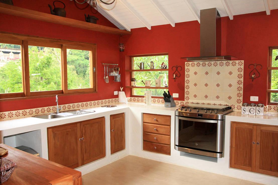 9 cocinas espectaculares en forma de l - Cocinas estilo colonial ...