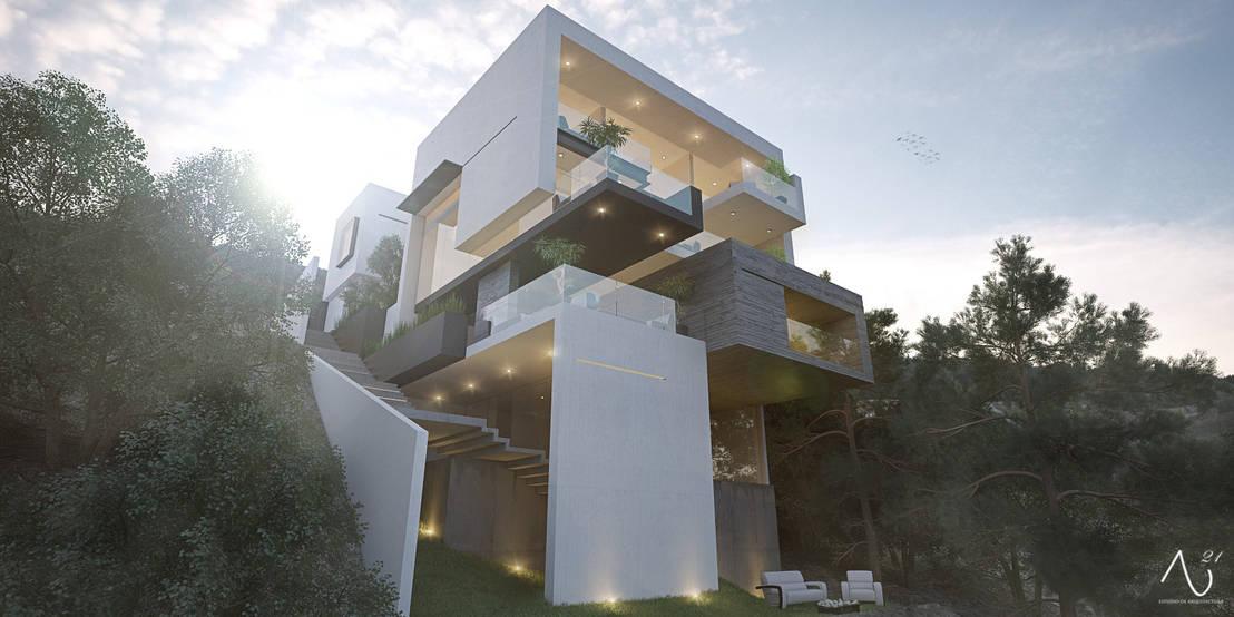 Case moderne 10 facciate spettacolari for Facciate case moderne