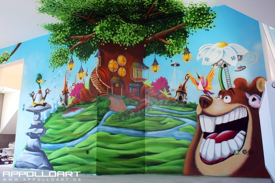 Kinderzimmer fantasievoll gestalten mit graffiti und airbrush von ...
