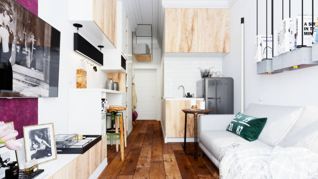 die perfekte wohnung auf nur 16 quadratmetern. Black Bedroom Furniture Sets. Home Design Ideas