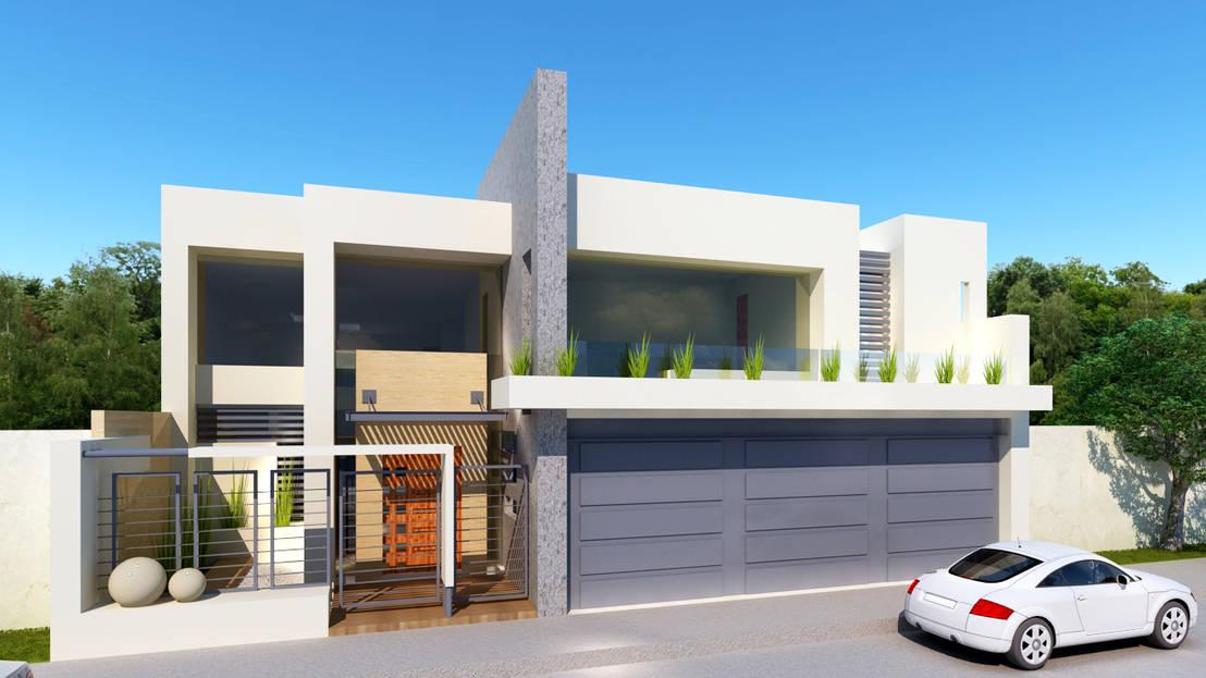 36 fachadas de dos pisos que te dar n ideas para dise ar for Como disenar una casa de dos pisos