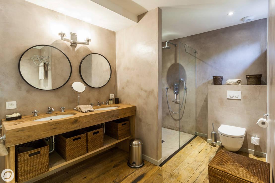 8 salles de bains super chaleureuses - Salle De Bain Rustique Photos