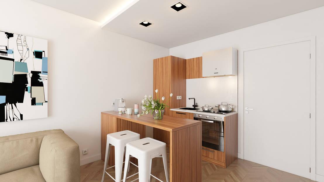 Cozinhas pequenas 9 ideias para as tornar maiores for Barras de cocina espacios pequenos