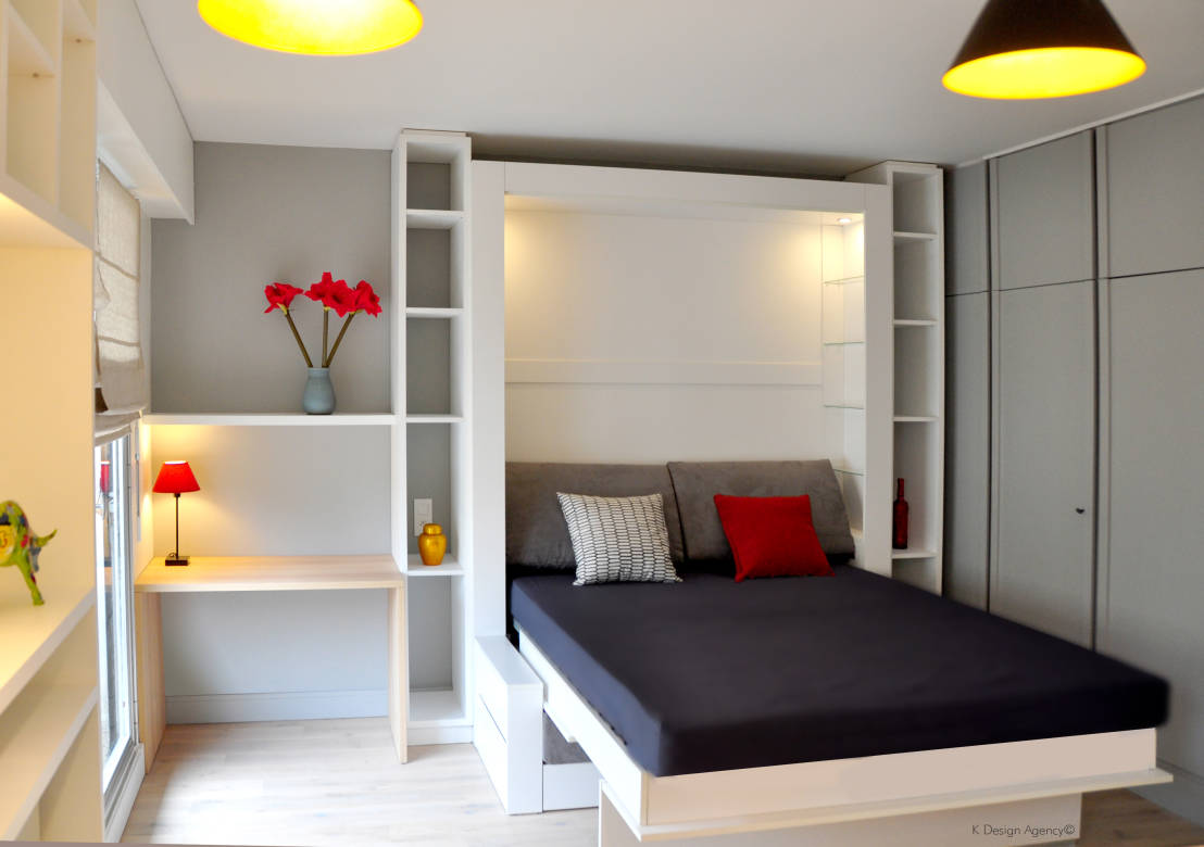 comment am nager une petite chambre. Black Bedroom Furniture Sets. Home Design Ideas