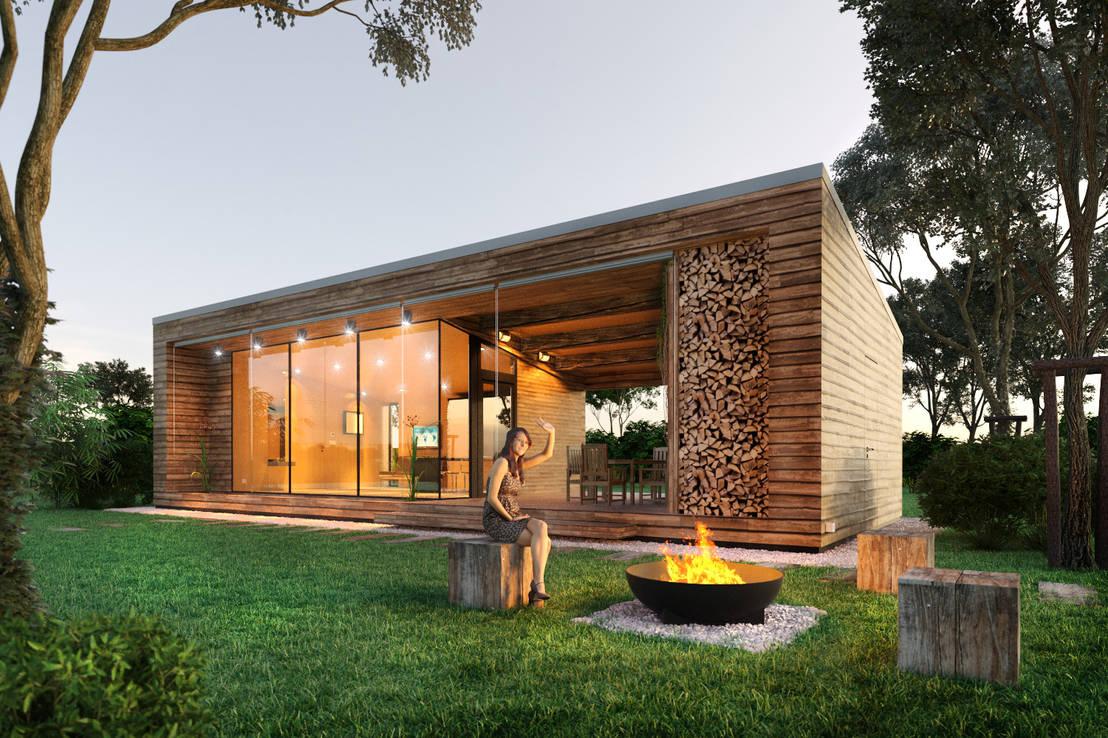nowoczesne domy wiejskie. Black Bedroom Furniture Sets. Home Design Ideas