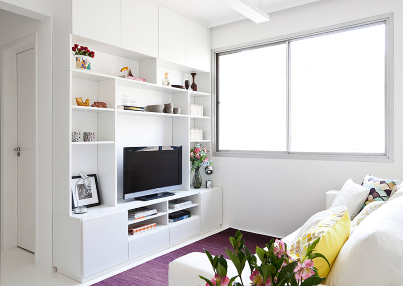 30 salas de tv pr ticas e perfeitas para casas pequenas for Salas pequenas para casas pequenas