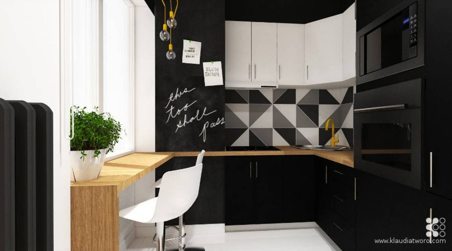 Ausdrucksstarke Farben für kleine Küchen