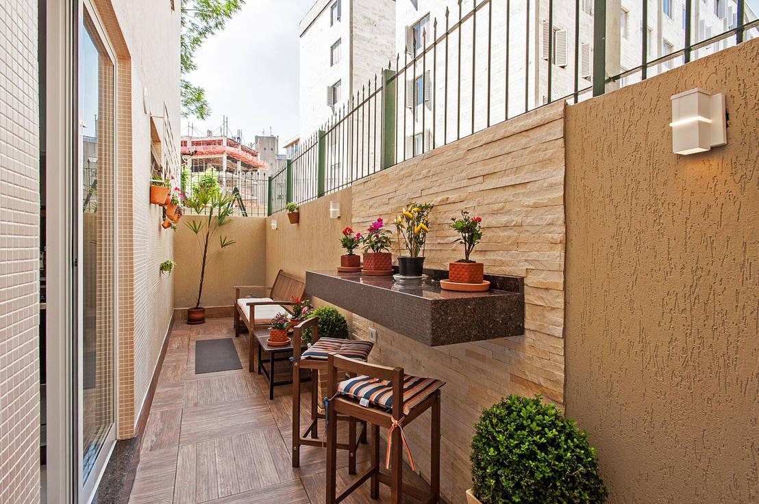Come arredare un piccolo balcone stretto e lungo - Como decorar un pasillo pequeno ...